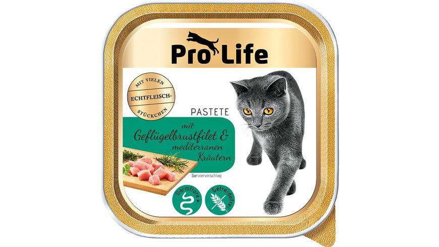Pro Life Katze Katzennassfutter Pastete mit Gefluegelbrustfilet und Kraeutern