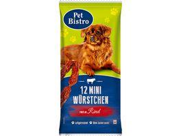Pet Bistro Hundesnack Mini Wuerstchen mit Rind