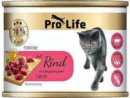 Pro Life Katze Katzennassfutter Terrine mit Rind