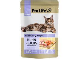 Pro Life Katze Katzennassfutter Terrine mit Huhn und Lachs an Cranberries