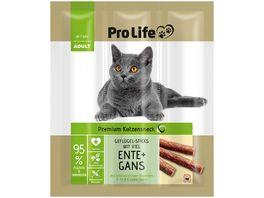 Pro Life Katzensnack Gefluegel Sticks mit Ente Gans