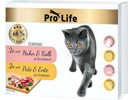 Pro Life Katze Katzennassfutter Terrine Multipack