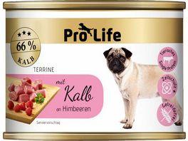 Pro Life Hundenassfutter Terrine mit Kalb an Himbeeren