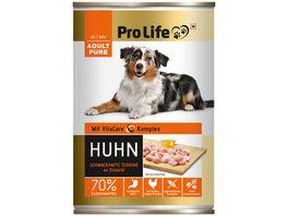 Pro Life Hundenassfutter Terrine mit Huhn an kaltgepresstem Disteloel