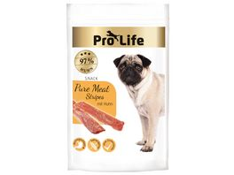 Pro Life Hundesnack Pure Meat Stripes mit Huhn