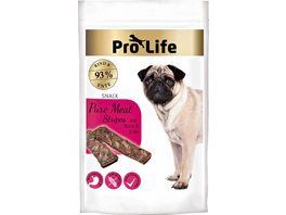 Pro Life Hundesnack Pure Meat Stripes mit Rind Ente