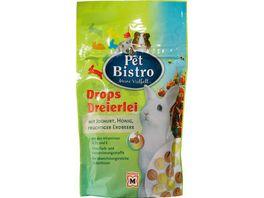 Pet Bistro Nager Drops Dreierlei mit Joghurt Honig und Erdbeere