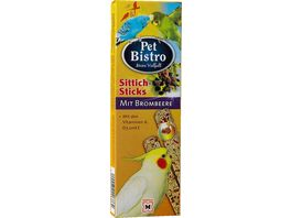 Pet Bistro Sittich Sticks mit Brombeere