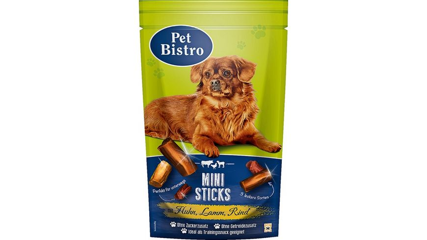 Pet Bistro Hundesnack Mini Sticks mit Huhn Lamm Rind