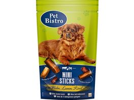 Pet Bistro Hundesnack Mini Sticks mit Huhn Lamm Rind