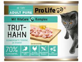 Pro Life Katze Katzennassfutter Terrine mit Truthahn