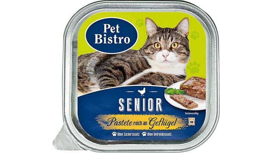 Pet Bistro Katzennassfutter Senior Pastete reich an Gefluegel
