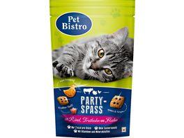 Pet Bistro Katzensnack Party Spass mit Rind Truthahn Huhn