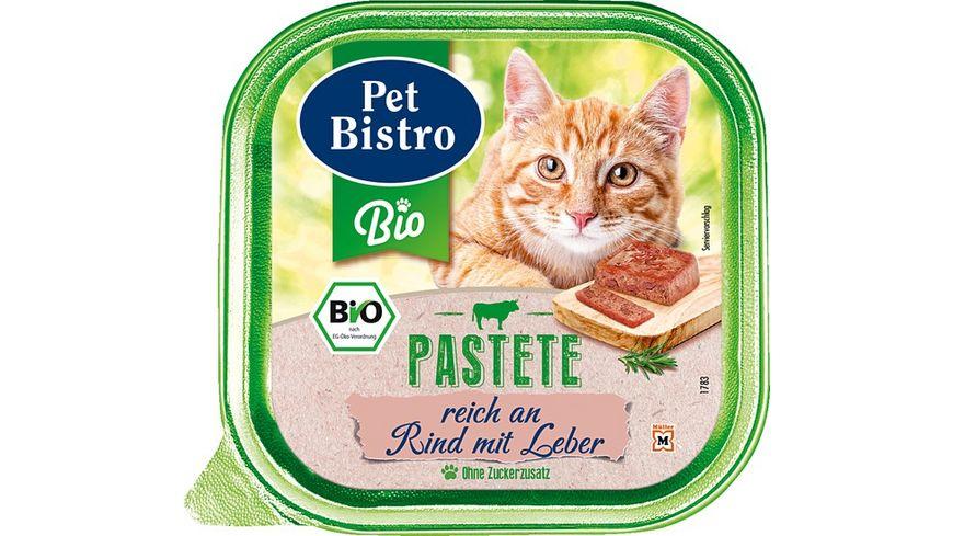Pet Bistro Bio Katzennassfutter Pastete reich an Rind mit Leber