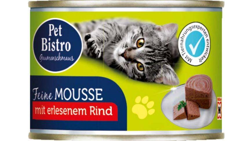 Pet Bistro Katzennassfutter Gaumenschmaus Feine Mousse mit Rind