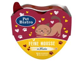 Pet Bistro Katzennassfutter Gaumenschmaus Feine Mousse mit Huhn