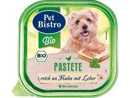 Pet Bistro Bio Hundenassfutter Pastete Reich an Huhn mit Leber