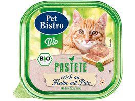 Pet Bistro Bio Katzennassfutter Pastete reich an Huhn mit Pute