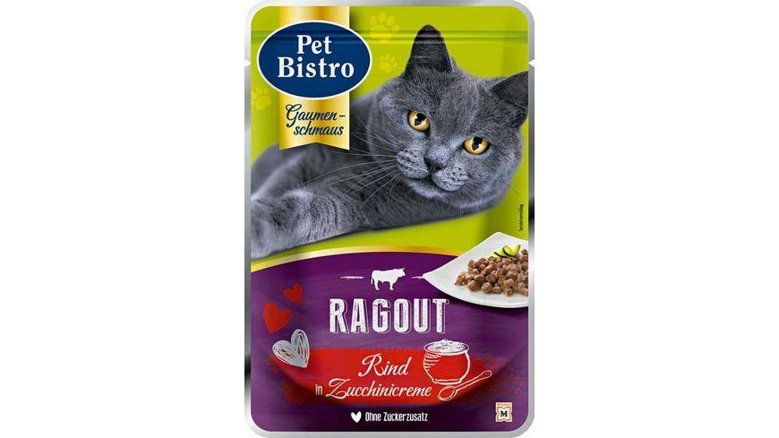 Pet Bistro Katzennassfutter Ragout mit Rind in Zucchinicreme