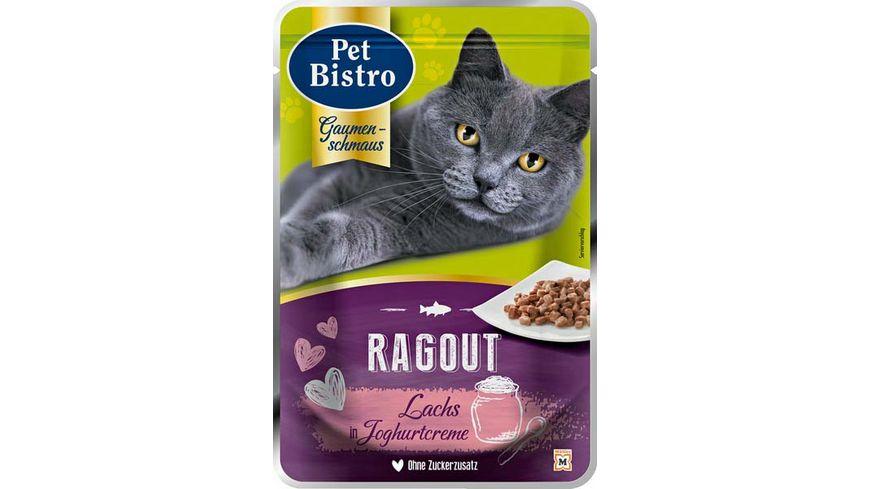 Pet Bistro Katzennassfutter Ragout mit Lachs in Joghurtcreme
