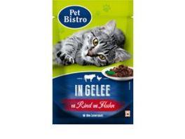Pet Bistro Katzennassfutter mit Rind und Huhn in Gelee