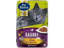 Pet Bistro Katzennassfutter Ragout mit Huhn in Karottencreme