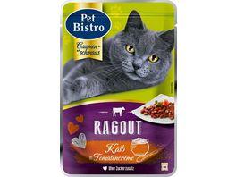 Pet Bistro Katzennassfutter Ragout mit Kalb in Tomatencreme
