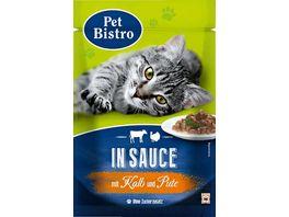 Pet Bistro Katzennassfutter mit Kalb und Pute in Sauce