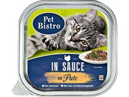 Pet Bistro Katzennassfutter mit Pute in Sauce