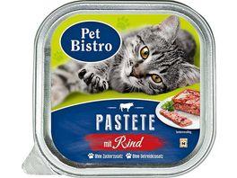 Pet Bistro Katzennassfutter Pastete mit Rind