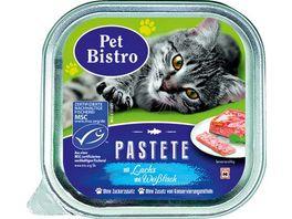 Pet Bistro Katzennassfutter MSC Pastete mit Lachs und Weissfisch