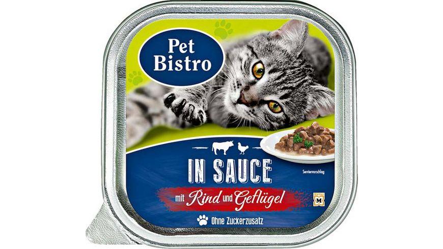 Pet Bistro Katzennassfutter mit Rind und Gefluegel in Sauce