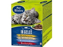 Pet Bistro Katzennassfutter Beutel Variationen in Gelee