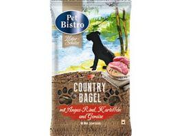Pet Bistro Hundesnack Country Bagel mit Angus Rind Kartoffeln und Gemuese