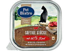Pet Bistro Katzennassfutter Naturschaetze Saftige Stuecke mit Rind