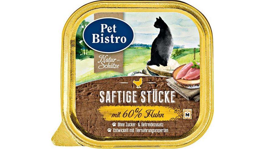Pet Bistro Katzennassfutter Naturschaetze Saftige Stuecke mit Huhn