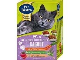 Pet Bistro Katzennassfutter kleine Koestlichkeiten Ragout in Sauce 6 Beutel