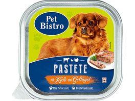 Pet Bistro Hundenassfutter Pastete mit Kalb und Gefluegel