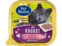 Pet Bistro Katzennassfutter Ragout mit Lachs in Rahmsauce