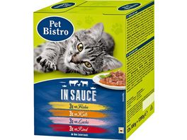 Pet Bistro Katzennassfutter Variationen in Sauce 12 Beutel