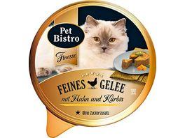Pet Bistro Katzennassfutter mit Huhn und Kuerbis in Gelee
