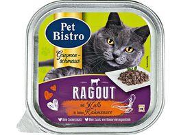 Pet Bistro Katzennassfutter Ragout mit Kalb in Rahmsauce