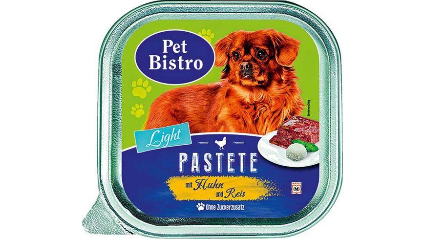 Pet Bistro Light Hundenassfutter Pastete mit Huhn und Reis