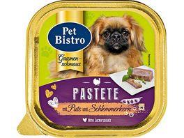 Pet Bistro Hundenassfutter Pastete mit Pute und Schlemmerkern