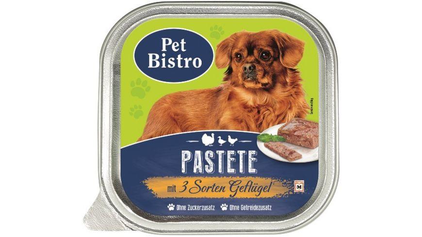 Pet Bistro Hundenassfutter Pastete mit 3 Sorten Gefluegel