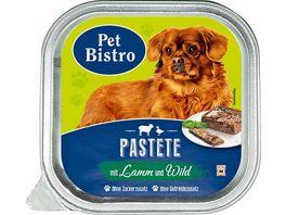 Pet Bistro Hundenassfutter Pastete mit Lamm und Wild
