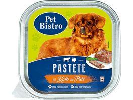 Pet Bistro Hundenassfutter Pastete mit Kalb und Pute