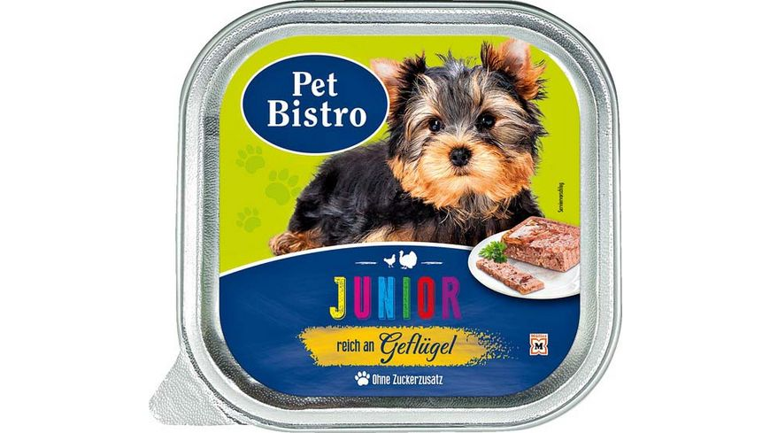 Pet Bistro Hundenassfutter Junior Pastete reich an Gefluegel