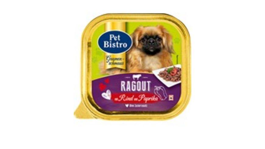 Pet Bistro Hundenassfutter Gaumenschmaus mit Rind und Paprika