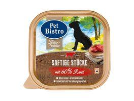 Pet Bistro Hundenassfutter Naturschaetze Saftige Stuecke mit 60 Rind